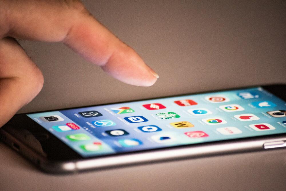 smartphone avec des applications